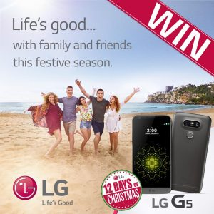 LG Australia – 12 Days of Christmas Giveaway 2016 – Win 1 of 12 G5 Mobile Smartphones