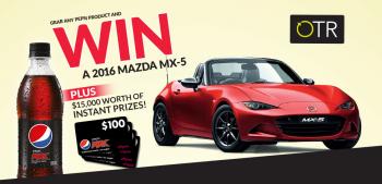 Pepsi OTR – Win a 2016 Mazda MX-5 Car plus $100 EFTPOS card