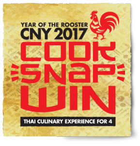 Asian Inspirations – Cook, Snap and Share your Recipe to Win a 5 Day Getaway to Thailand CNY 2017