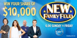 Nova Entertainment – Kate, Tim and Martys Survey Says – Family Feud – Win 1 of 10 cash prizes valued at $1,000 each