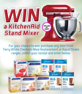 Terry White Chemists – KitchenAid Stand Mixer – Win a Kitchen Stand Mixer in Empire Red valued at $849