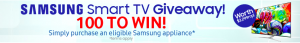 Appliances Online Australia – Win 1 of 100 Samsung UA55KS9000 55inch 139cm SUHD Smart TV valued at $3,299 RRP each