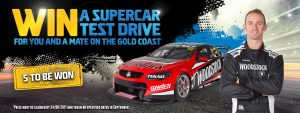 Asahi Premium Beverages – Woodstock Bourbon – Win 1 of 5 trips for 2 to Surfers Paradise QLD for a Supercar Test Drive Experience valued at AU$5,000 each