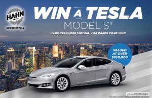 Bottlemart – Win a Tesla Model S Car valued at over $100,000 with Hahn SuperDry