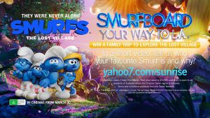Channel 7 – Sunrise – Smurfboard Your Way to L.A – Win a trip to Los Angeles for a VIP Smurf Animation Experience valued at $14,500