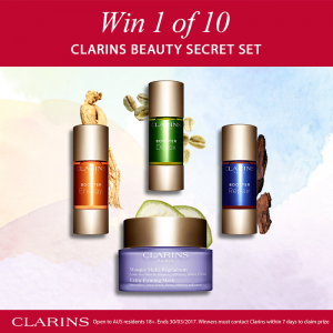 Clarins Australia – Win 1 of 10 Clarins Beauty Secret Sets valued at $230 each