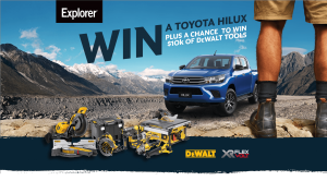Explorer – Win a major prize of a Toyota Hilux 4×4 SR Double Cab Pickup OR a minor prize of $10,000 of Dewalt Tool Kit