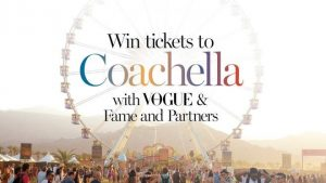 News Life Media – VOGUE – Win a trip for 2 to Los Angeles & tickets to Coachella 2017 thanks to Fame and Partners valued up to $11,685