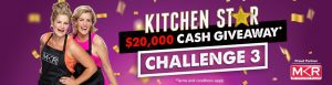 """The Good Guys Kitchen Star – Challenge 3 """"Mini-Cake Bake Off"""" – Win $20,000 and Weekly Gift Card prizes"""