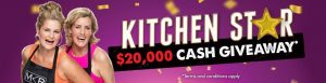 The Good Guys Kitchen Star – Win $20,000 cash prize OR 1 of 2 Weekly $100 The Good Guys gift cards