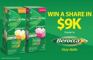Nova Entertainment – Berocca Fizzy Melts – Win a $5,000 AUD Cash OR 1 of 4 minor prizes of $1,000 AUD cash each