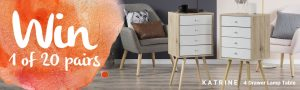 Amart Furniture – Win 1 of 20 sets of 2 Katrine Lamp Tables
