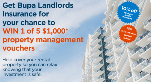 Bupa – Landlords Insurance – Win 1 of 5 property management vouchers valued at $1,000 each