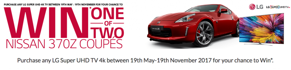 Harvey Norman – Win 1 of 2 Nissan 370Z Coupe cars including registration & 12-month third party insurance valued at $66,836 each