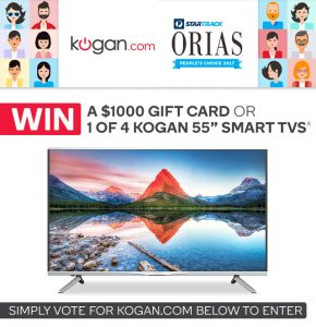 Kogan Australia – Win 1 of 4 Ultra HD Kogan 55″ Agora 4K Smart LED TVs