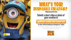 Sunrise – Channel 7 – What's Your Despicable Creation – Win $20,000 for your Despicable creation