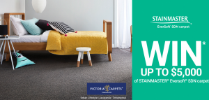 Carpet Court Australia & Stainmaster – Win $5,000 of Stainmaster & Victoria Carpets flooring plus a styling session with Darren Palmer