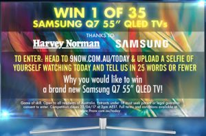 Channel 9 – Today Show – Samsung – Win 1 of 35 Samsung Q7 55