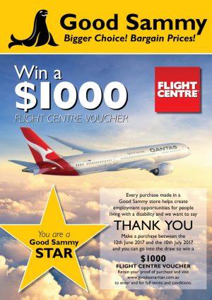 Good Samaritan Industries – Win a $1,000 AUD Flight Centre voucher