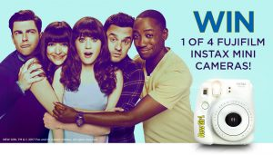 Network Ten & Mercury Mobility – New Girl FujiFilm Camera – Win 1 of 4 New Girl branded FujiFilm Instax Mini 8 cameras valued at $90 each