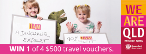 Queensland Day – Win 1 of 4 Travel vouchers valued at $500 each