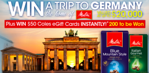 Stuart Alexander – Coles – Melitta Germany 2017 – Win a major prize of a trip for 2 to Germany OR 1 of 200 Instant Win Prizes