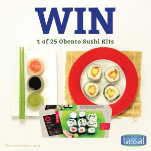 Tassal Salmon – Win 1 of 25 Obento sushi kits & $25 pre-paid visa cards