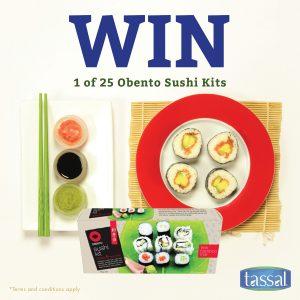 Tassal Salmon – Win 1 of 25 Obento sushi kits & $25 pre-paid visa cards