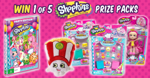 Universal Sony Pictures Home Entertainment – Little Lounge x Shopkins – Win 1 of 5 Shopkins prize packs