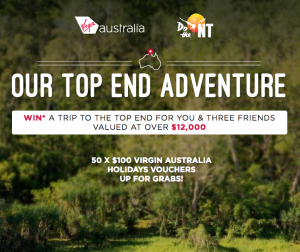 Virgin Australia – Win a trip for 4 to Darwin valued at $12,108 OR 1 of 50 minor prizes