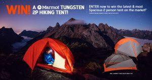 Wild Earth – Win a Marmot Tungsten 2 person Hiking Tent