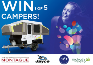 Woolworths Rewards – JAZZ apples – Win 1 of 5 Jayco Swift Outback Campers