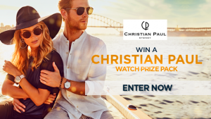 Channel Seven – Sunrise Family Newsletter – 'Christian Paul Watches' – Win a watch prize pack valued at $328