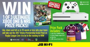 JB Hi-Fi – Win 1 of 3 Xbox One S 500GB & NRL prize packs