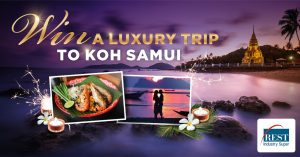 Network Ten – The Bachelor – REST Industry Super – Win a travel package for 2 to Koh Samui, Thailand valued at up to $11,000