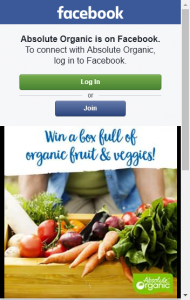 Absolute Organic – Win A Box Full Of Organic Fruit And Vegetables