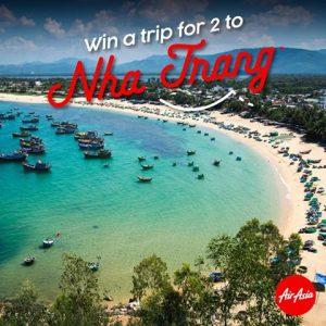 AirAsia – Win a trip for 2 to Nha Trang, Vietnam (transit flight from Kuala Lumpur, Malaysia)