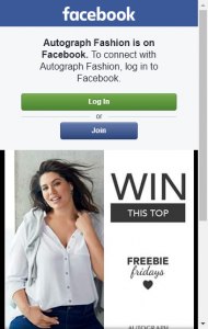 Autograph Fashion – Win This Top By Liking This Post