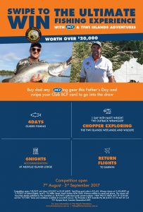 BCF Club Members – Tiwi Islands Adventures – Win a 5-day fishing experience for 2 including return flights to the Tiwi Islands via private charter valued at up to $21,610