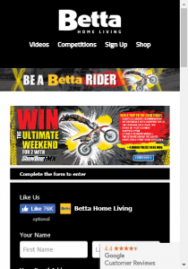 Betta – Win The Ultimate Weekend Away With Showtime Fmx  (prize valued at  $5,470)