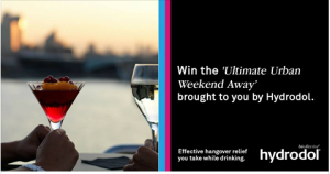 Bio Revive – Hydrodol – Win the Ultimate Urban Weekend Away for 2 valued at $1,400