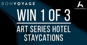 Bon Voyage – Win 1 of 3 Art Series Hotel Staycations for 2 valued at up to $400