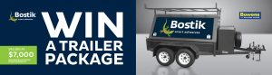 Bostik – Win a Bostik/Bowens 8×5 Builders Tandem Trailer package valued at $7,000