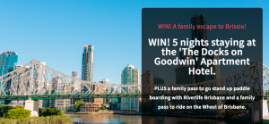 Bound Round –  Win a family holiday package for 4 valued at  $2,000
