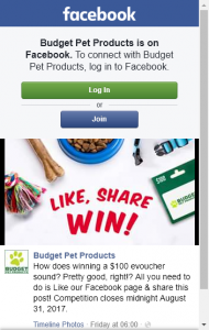 Budget Pet Products – Win A $100 E-voucher (prize valued at $100)