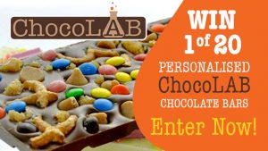 Channel Seven – Sunrise Family Newsletter 'Chocolab' – Win 1 of 20 personalized Chocolab chocolate bar valued at $24 each