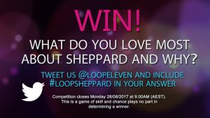 Channel Ten – The Loop – Win 1 Of 75 Double Passes To The Sheppard Performance In Sydney On 31st August (prize valued at $300)