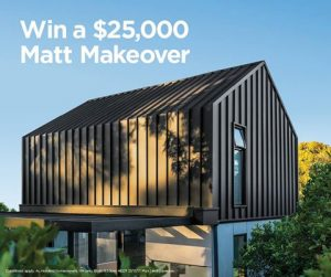 Colorbond Steel – Win a $25,000 Matt Makeover prize package including installation and $5,000 cash