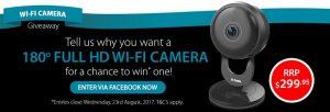 D-Link – Win a DCS-2530L Full HD 180-degree Wi-Fi Camera valued at $300