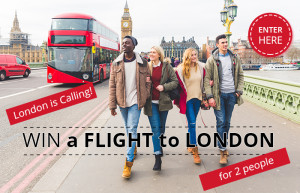 Europe Holidays – Win round trip economy airfare for 2 to London valued at up to AUD$4,000